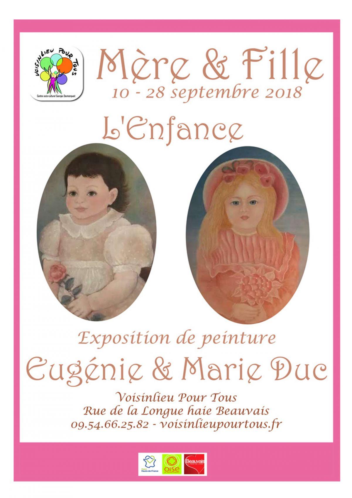 Expo peinture – Marie & Eugénie Duc – L'Enfance