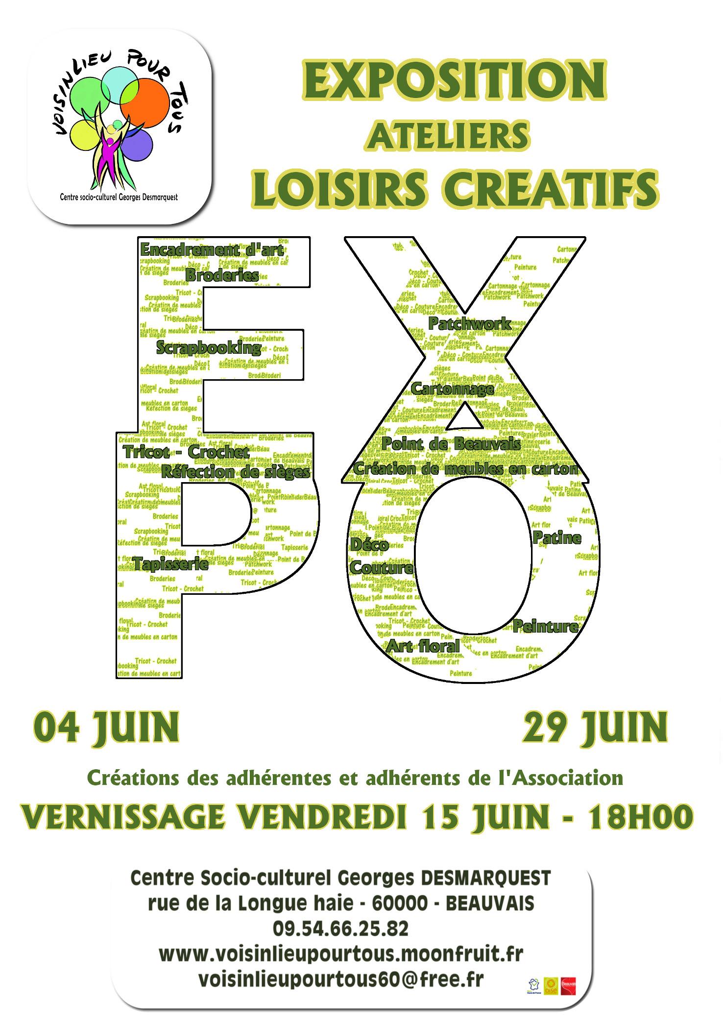 Affiche exposition loisirs créatifs 2018