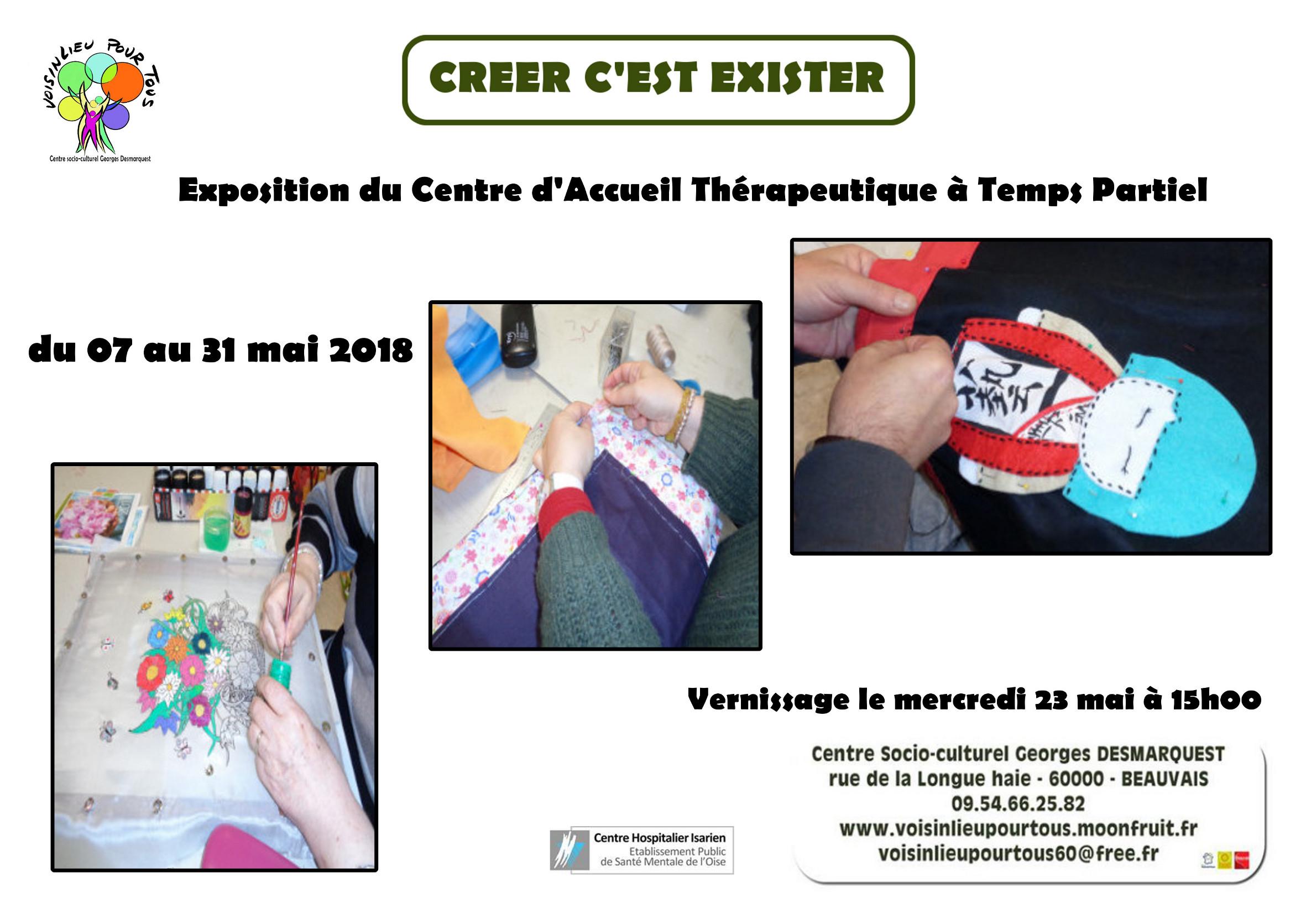 Affiche de l'exposition du C.A.T.T.P - mai 2018